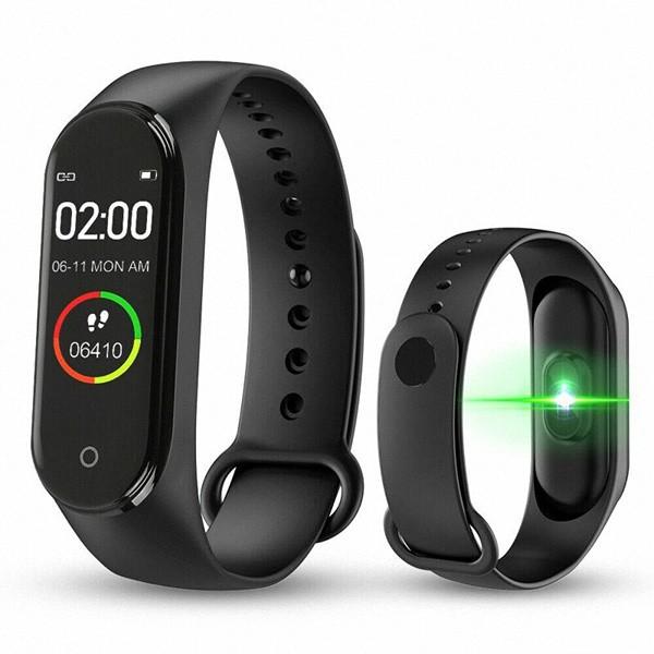 Bratara Fitness M4 Band, Ritm Cardiac, Puls, Monitorizare Activitati, Notificari Apeluri SMS Aplicatii, Black