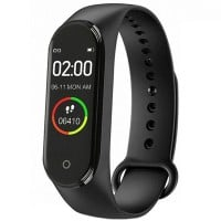 Bratara Fitness M4 Band, Ritm Cardiac, Puls, Monitorizare Activitati, Notificari Apeluri SMS Aplicatii, Black