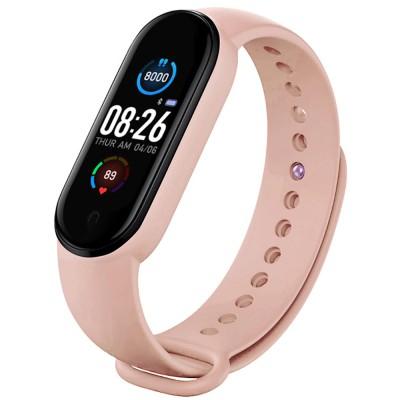 Bratara Fitness M5 Band Pink, Functie Telefon, Notificari, Monitorizare Activitati Puls Somn, IP67