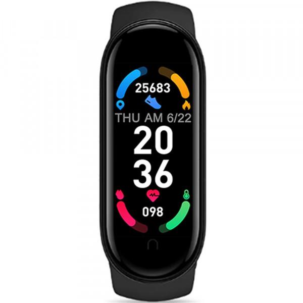 Bratara Fitness M6 Smart, Monitorizare Activitati, Notificari Vibratii, Incarcare magnetica, Black