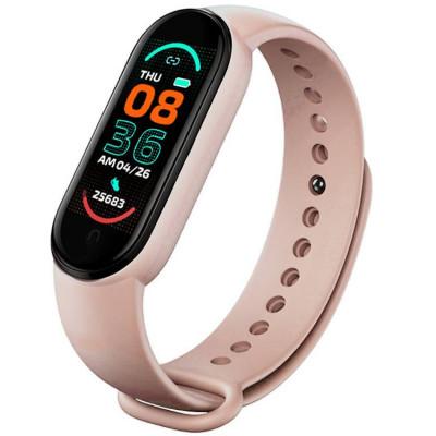 Bratara Fitness M6 Band, Bluetooth, Monitorizare Puls Sanatate, Vibratii, Pink