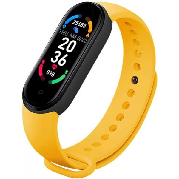 Bratara Fitness M6 Band, Bluetooth, Monitorizare Puls, Activitati si Sanatate, Vibratii, Yellow