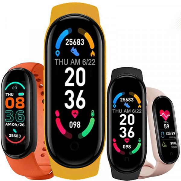 Bratara Fitness M6 Band, Bluetooth, Monitorizare Puls Sanatate, Vibratii, Black