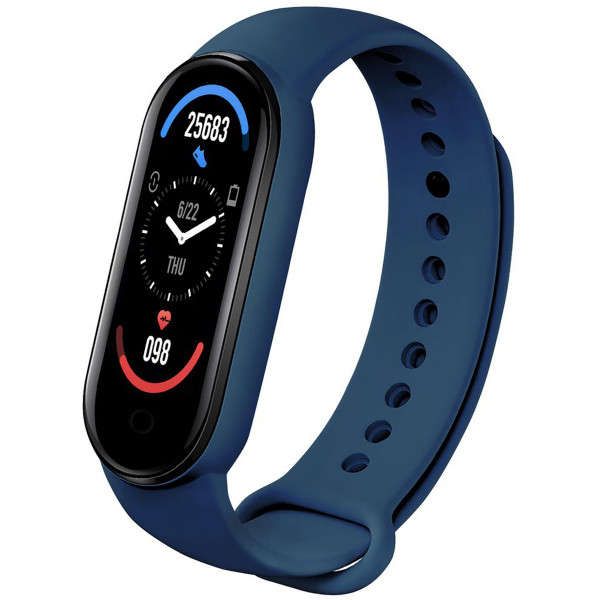 Bratara Fitness M6 Band, Bluetooth, Monitorizare Puls, Activitati si Sanatate, Vibratii, Blue