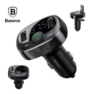 Incarcator auto Baseus 3.4A, Handsfree, Emitator FM, Bluetooth, redare MP3 USB + microSD