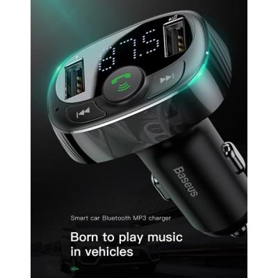 Incarcator auto Baseus, Emitator FM Sunet HD, Bluetooth, microSD, 3.4A