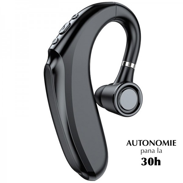 Casca bluetooth NYTRO Q12, Bluetooth 5.2, Autonomie Mare pana la 30h, Sunet Puternic, Limitare zgomot