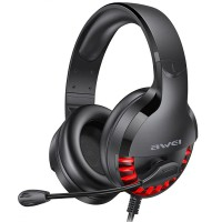 Casti gaming over-ear AWEI 770i, Microfon, 50mm, Iluminare, Black