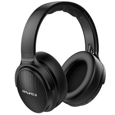 Casti wireless over-ear AWEI A780BL, Bluetooth 5.0, Cool BASS, Microfon, Aux, Black