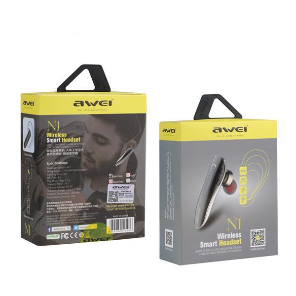 Casca business AWEI N1, Bluetooth, Model Slim, Multi-Point