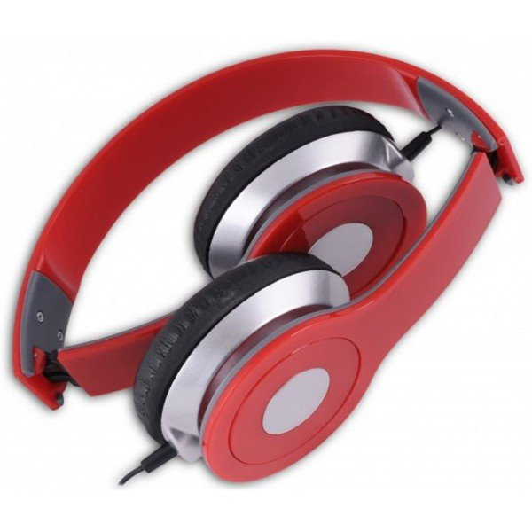 Casti cu fir over-ear HD-3, 40mm, Stereo, Microfon, Red