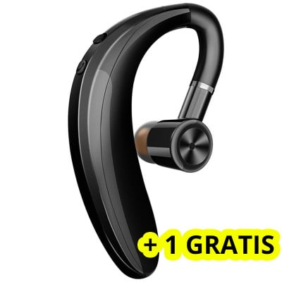 Casca bluetooth S9 Business, Autonomie Mare, Grey + 1 GRATIS