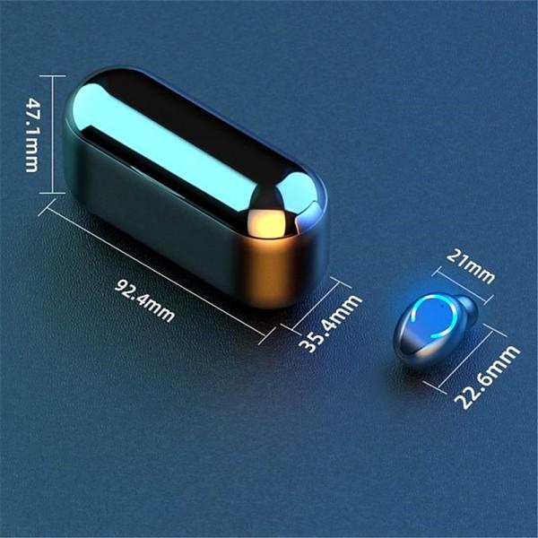 Casti wireless NytroPods TWS F9-C, Bluetooth 5.0, Touch Control, Powerbank cu Afisaj, Bass