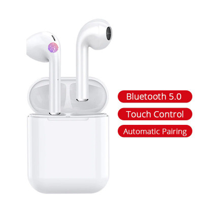Casti bluetooth wireless TWS i11, Touch, Bluetooth 5.0, Profesionale, Dock magnetic, White