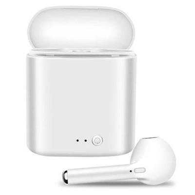 Casti bluetooth wireless i7 Mini, Bluetooth 5.0, Stereo, Dock incarcare, Microfon, White