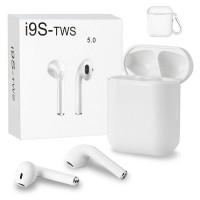 Casti bluetooth wireless TWS i9s, Bluetooth 5.0, Stereo HD, Microfon, Alb