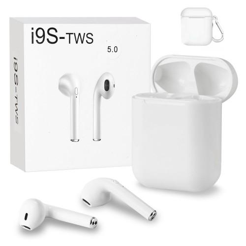 Casti bluetooth wireless i9s, Bluetooth 5.0, Stereo, Dock magnetic, White