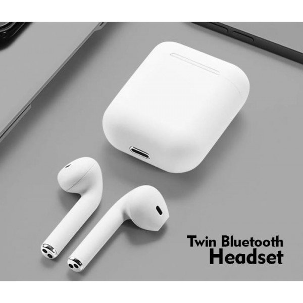 Casti wireless audio TWS 12, Bluetooth 5.0, Senzori Touch, White