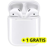 Casti bluetooth wireless NytroPods EVO Buds, Bluetooth 5.0, Touch, White + 1 GRATIS