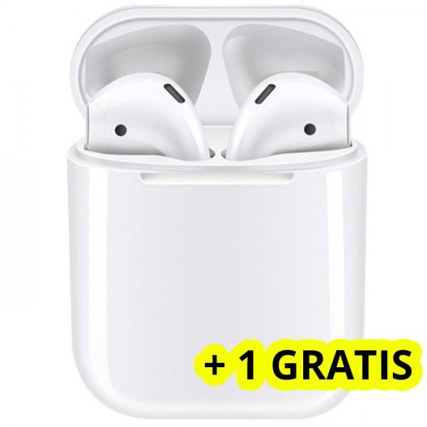 Casti bluetooth wireless NytroPods EVO Buds, Bluetooth 5.0, Touch, White + 1 GRATIS