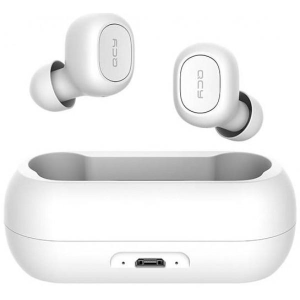 Casti wireless audio QCY T1C TWS, Bluetooth 5.0, White