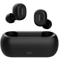 Casti wireless QCY T1C, Bluetooth 5.0, Microfon, Dock incarcare, Black