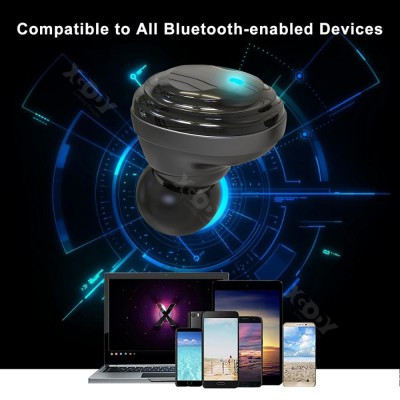 Casti wireless TWS H01, Bluetooth 5.0, Earbuds 9D, Extra Bass, Touch Control, 2000mAh, LED Display, Black