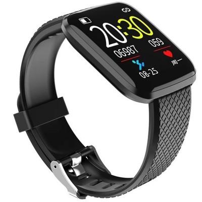 Ceas smartwatch M1, Bluetooth, Functii Monitorizare si Notificari, Negru