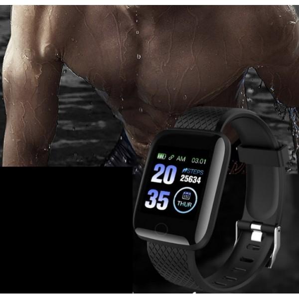 Ceas smartwatch M1, Monitorizare Activitati Sanatate Somn Puls Oxigen, Notificari