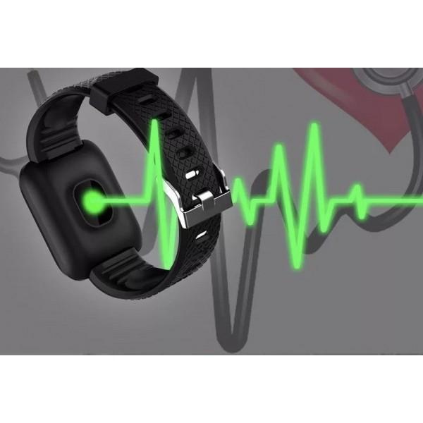 Ceas smartwatch M1, Monitorizare Fitness Activitati Sanatate Somn Puls, Notificari, Negru