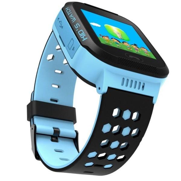 Ceas smartwatch copii C5 Kids Blue, SIM, GPS, Touchscreen, SOS, Lanterna