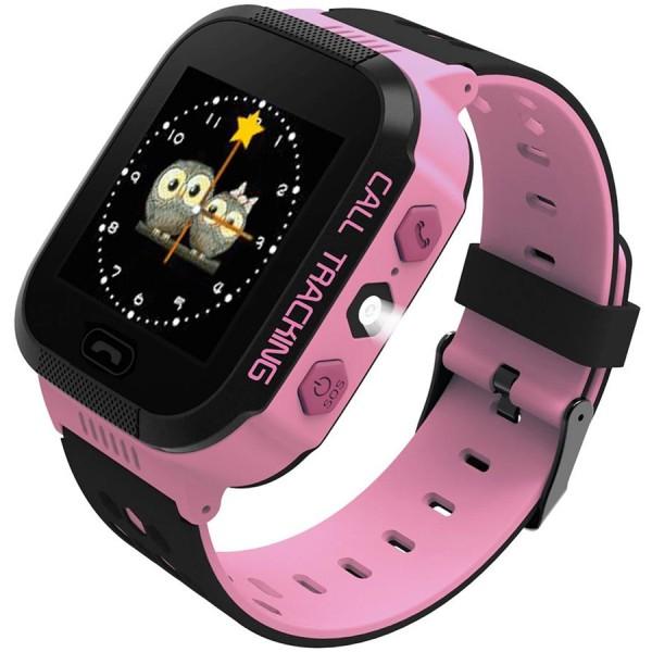 Ceas smartwatch copii ART B2 Pink, SIM, Full Touchscreen, GPS, SOS, Lanterna