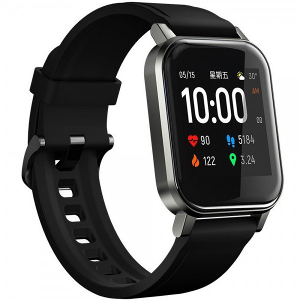 Ceas smartwatch Haylou LS02, Bluetooth, Monitorizare Puls Fitness, Touchscreen