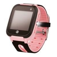 Ceas smartwatch copii KW50 Pink, Localizare LBS, SIM, SOS, Lanterna