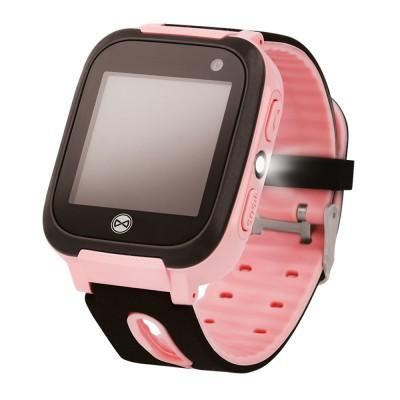 Ceas smartwatch copii KW-50 Roz, Localizare LBS, SIM, SOS, Lanterna