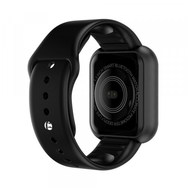 Ceas smartwatch L18, Bluetooth, Pedometru, Monitorizare Somn Puls Activitati, Notificari, Black