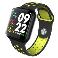 Ceas smartwatch L7, Touchscreen, Bluetooth, Monitorizare Puls Tensiune Activitati Somn, Verde