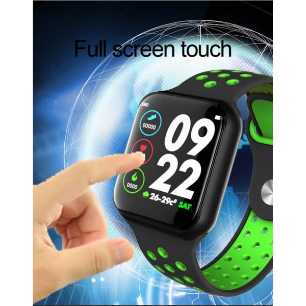 Ceas smartwatch L7, Full Touchscreen, Monitorizare ECG Puls Oxigen Activitati, Verde