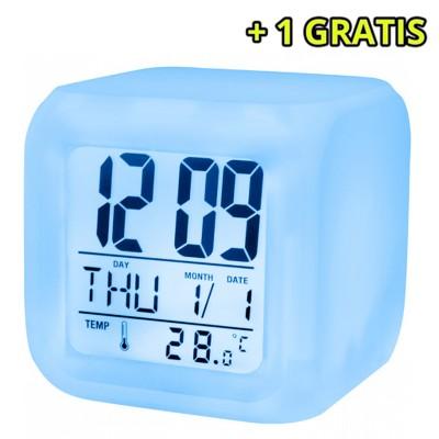 Ceas cu alarma SETTY, temperatura si lumina noapte + 1 GRATIS