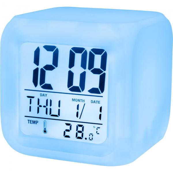 Ceas cu alarma, afisaj temperatura si lumina noapte
