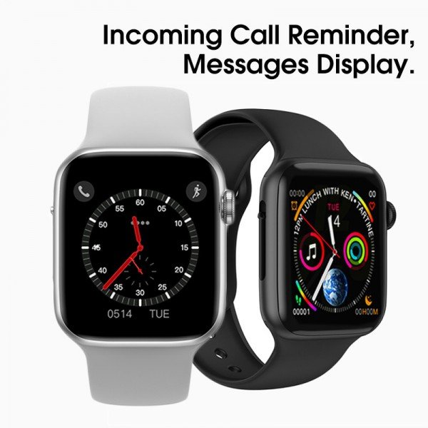 "Ceas smartwatch W34, 1.54"" IPS Full Touchscreen, Monitorizare Sanatate, Notificari, Black"
