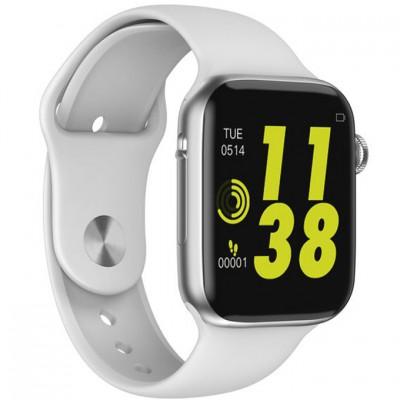 """Ceas smartwatch W34 White, 1.54"""" IPS Full Touchscreen, Monitorizare Sanatate, Notificari"""