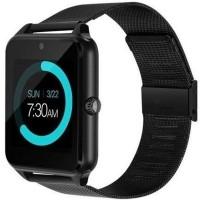 Ceas smartwatch Z60, suport SIM, Bluetooth, Camera, Curea metalica, Black