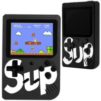 Mini consola portabila Gamebox Sup Plus, AV, 1000mAh, 400 jocuri, Black