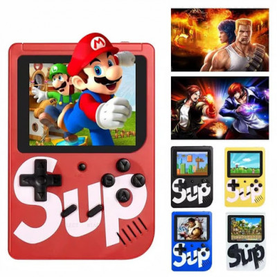 Mini consola portabila Gamebox Sup Plus, AV, 1000mAh, 400 jocuri, Red