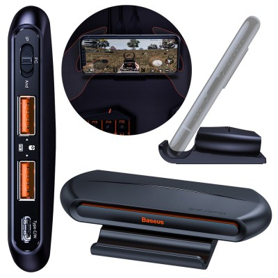 Adaptor tastatura si mouse Baseus Gamo 2x USB HUB GA01 pentru Android