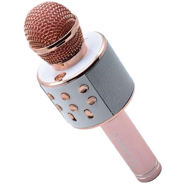 Microfon Karaoke Copii, Bluetooth, Functie Ecou, Difuzor Sunet Tare + 1 GRATIS