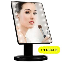 Oglinda cosmetica machiaj iluminata 10.5 inch,16 LED-uri, Buton Tactil + 1 GRATIS