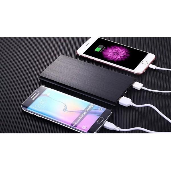 Baterie externa NytroPower Slim 20000mAh, 2x USB, USB-C, microUSB, 2A