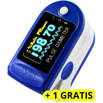 Pulsoximetru Digital Oximeter, Masurare Puls, Saturatie Oxigen + 1 GRATIS